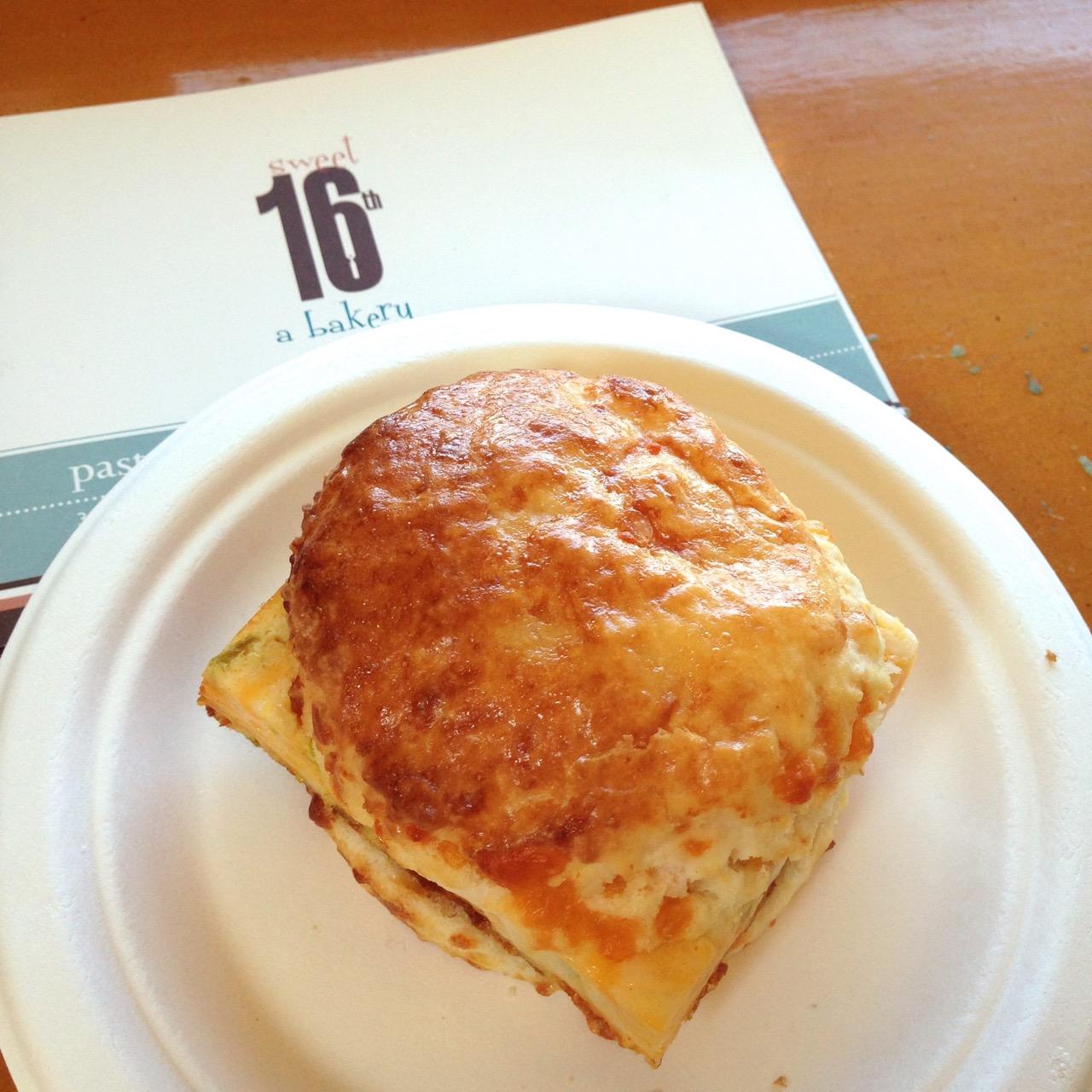 Sweet 16th a Bakery breakfast sandwich