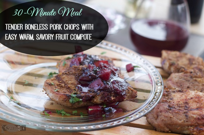 Grilled Rib Eye Pork Chops with Fennel Coriander Rub by Angela Roberts
