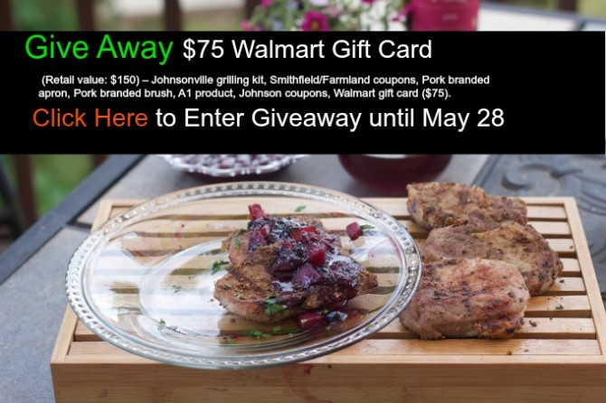 Pork Chops and Giveaway