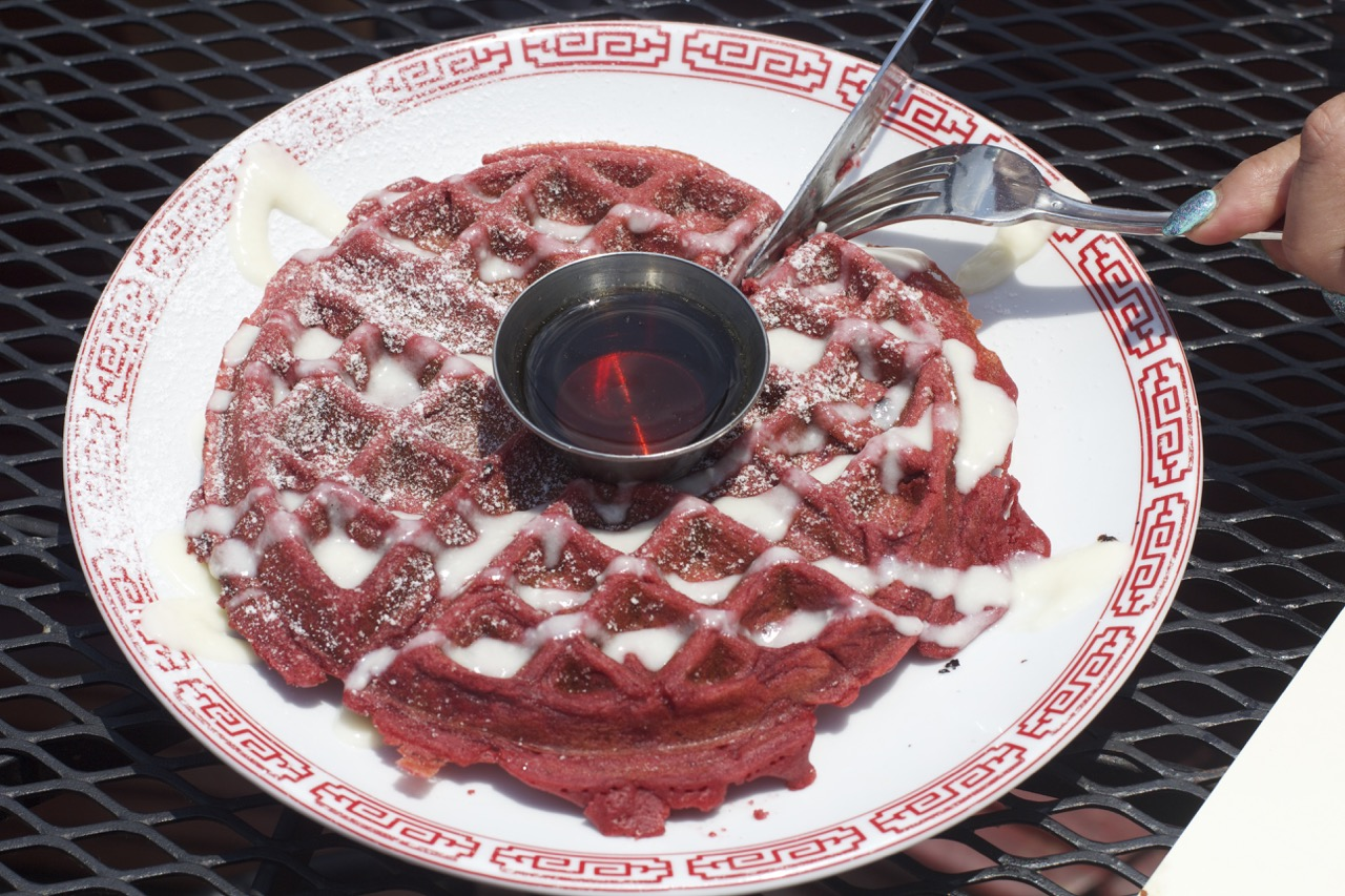Red Velvet Waffle Brunch at the Tavern in Nashville. Nashville Restaurants.