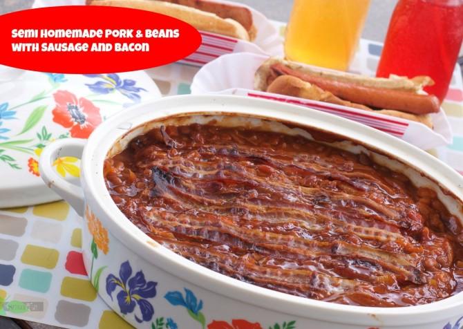 semi-homemade pork and beans