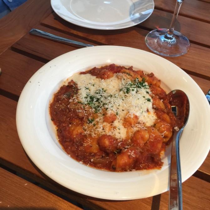 Gnocchi at Lemon Tiramisu at Trattoria Il Mulino by Angela Roberts