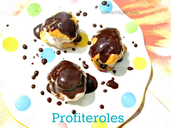 Profiteroles with Hot Fudge Sauce