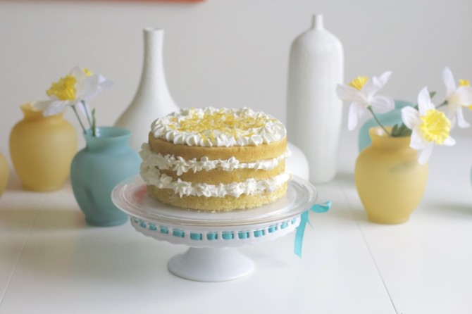 Lemon and Olive Oil Cream Cake