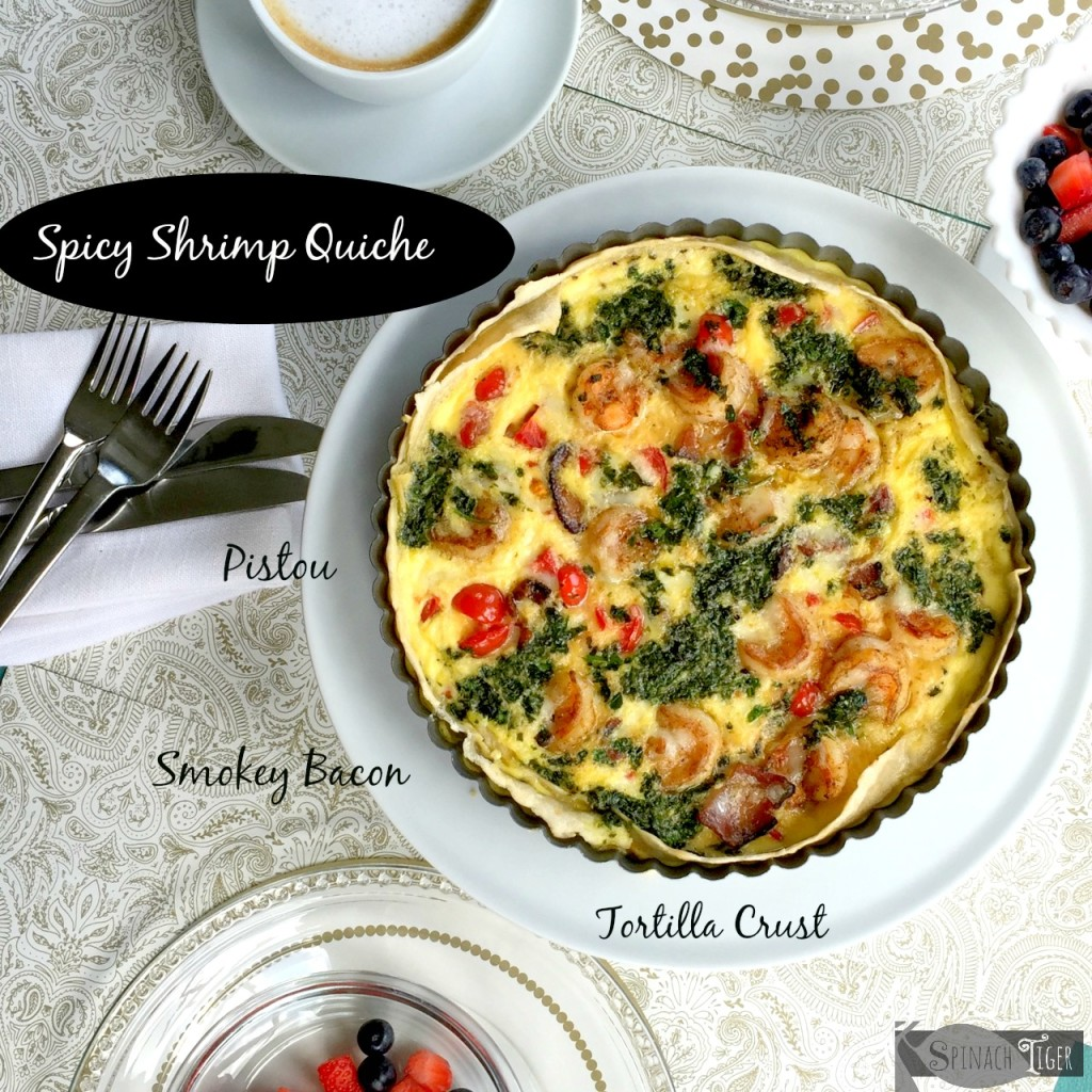 Spicy Shrimp Quiche by Angela Roberts