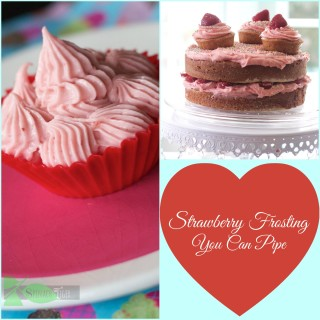 Strawberry Buttercream Frosting that You Can Pipe