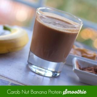 Carob Peanut Butter Banana Smoothie