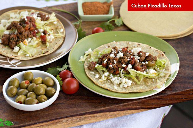 Cuban Picadillo Tacos