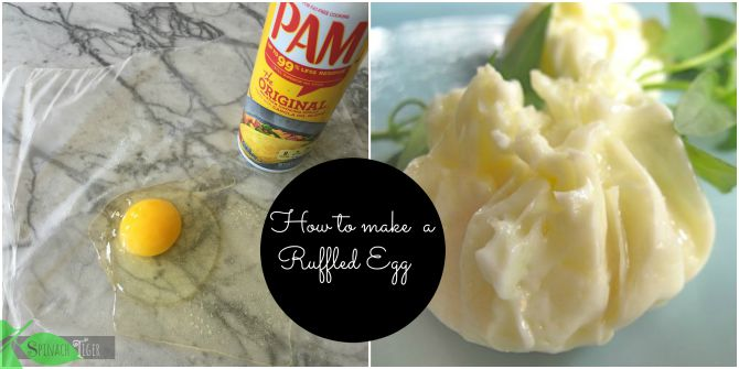 ruffled egg using Pam Cooking Spray by Spinach Tiger