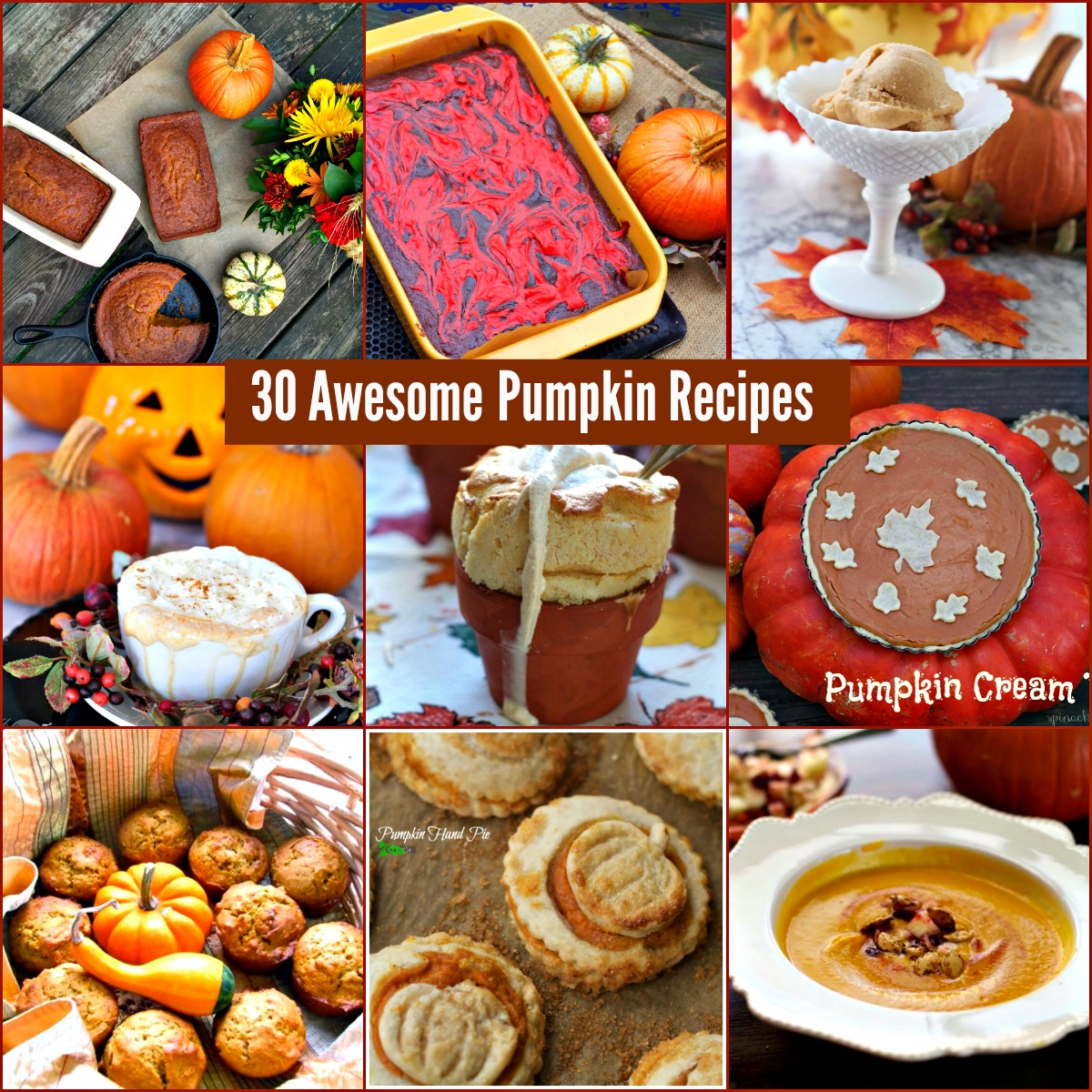 Best Pumpkin Dessert Recipes with Canned Pumpkin from Spinach Tiger. #pumpkin #desserts