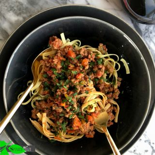 Marcella Haza Bolognese Sauce from Spinach Tiger