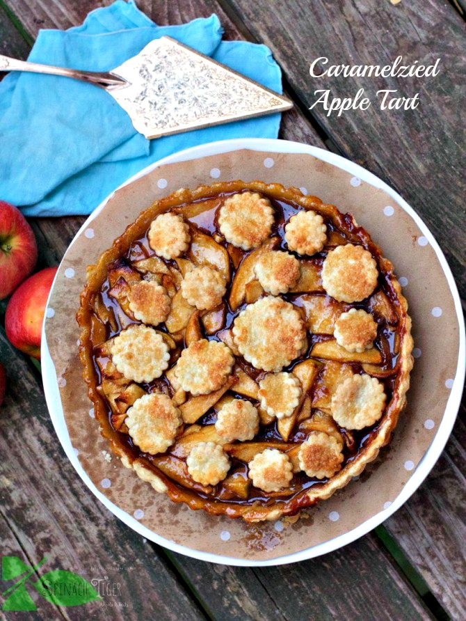 Caramelized Apple Tart with Stove Top Apple Filling - Spinach Tiger