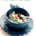 Homemade Slow Cooker Chicken Soup with Kale (Paleo, Gluten Free)