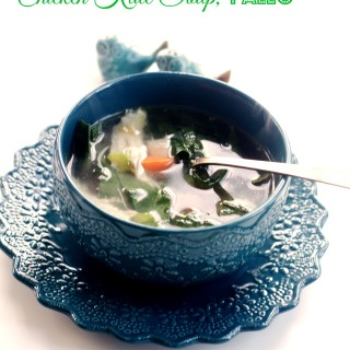 Homemade Slow Cooker Chicken Soup with Kale