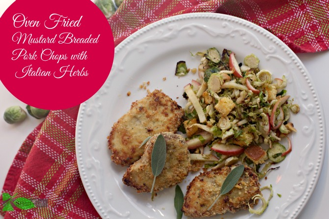 Oven Fried Pork Chops with Mustard Breading