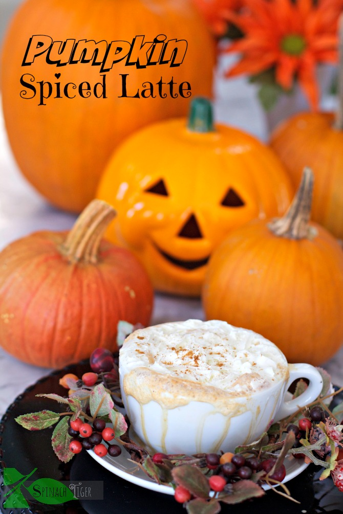 Pumpkin Spiced Latte with Homemade Pumpkin Pie Spice by Spinach Tiger