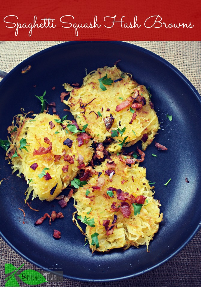 Spaghetti Squash Hash Browns by Spinach Tiger