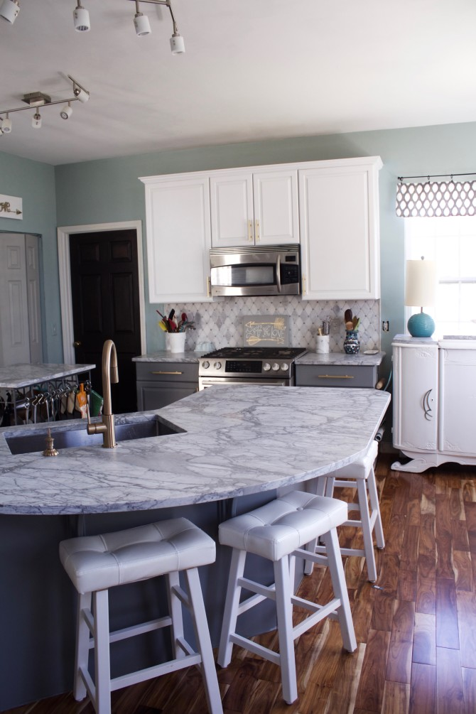 Carrara Marble Kitchen