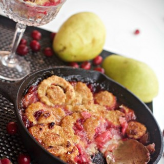 Pear Cranberry Cobbler and a Review of Cookbook, Making Dough