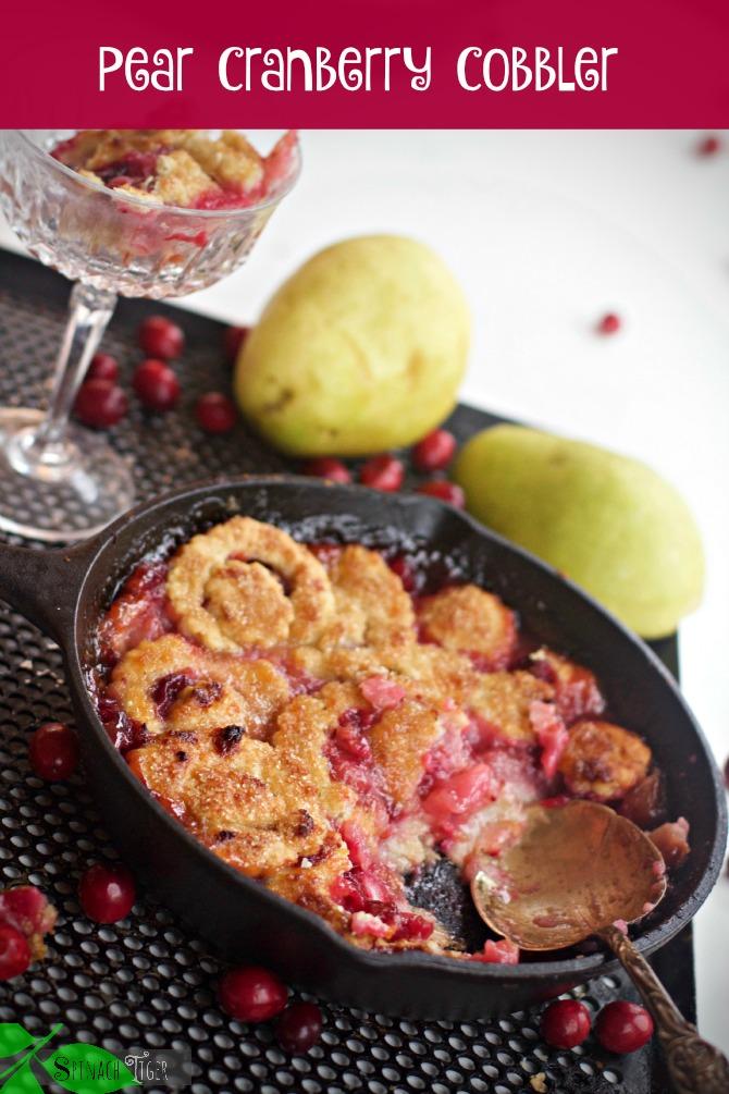 Pear Cranberry Cobbler Lead