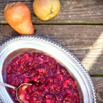 Pear Cranberry Sauce and Our Thanksgiving Dinner