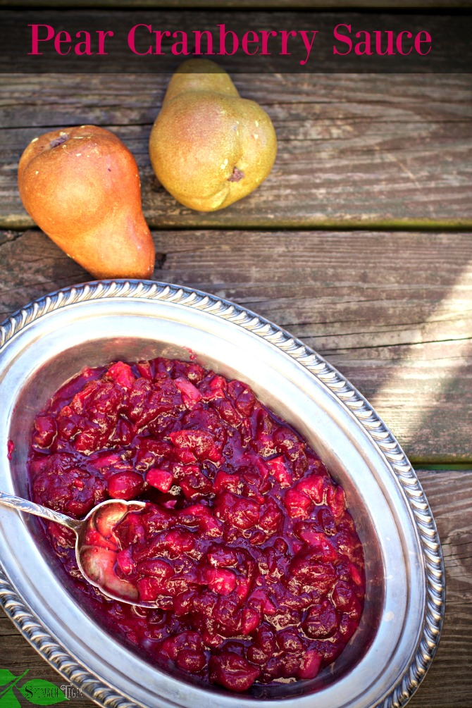Pear Cranberry Sauce by Spinach Tiger
