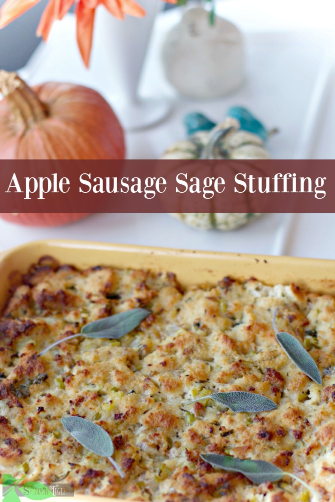 Apple Sausage Sage Stuffing