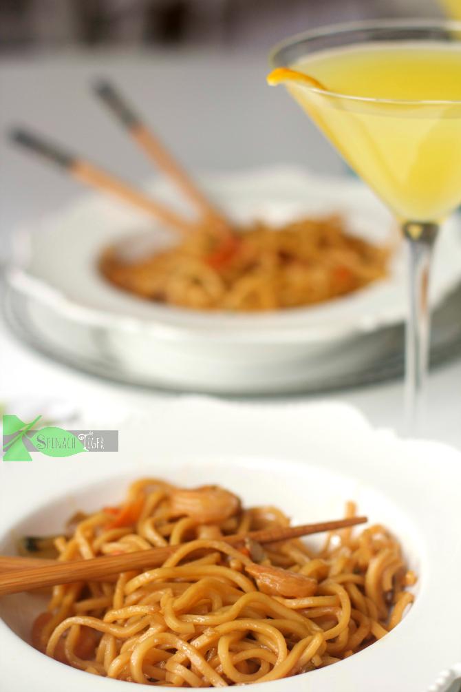 Shrimp Lo Mein Mandarin Martini