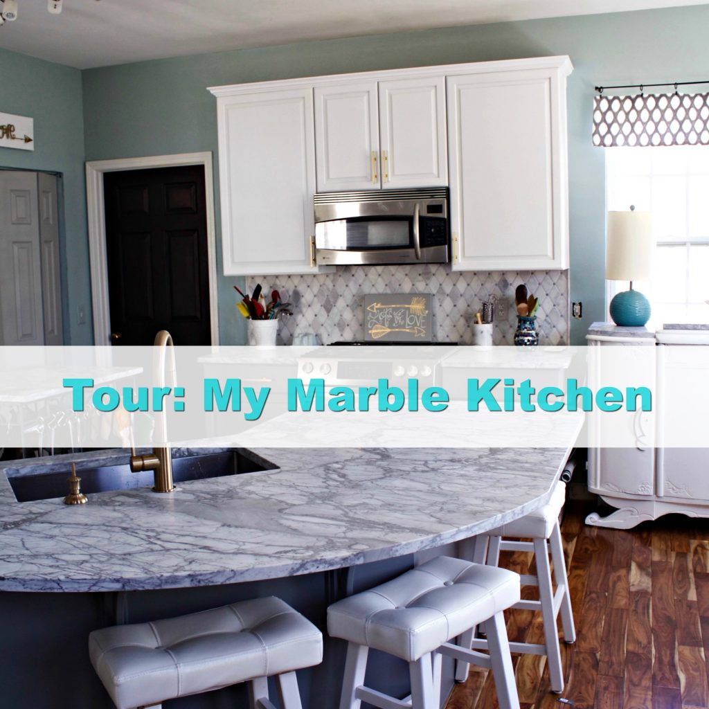 Tour Kitchen Carrara Marble Kitchen