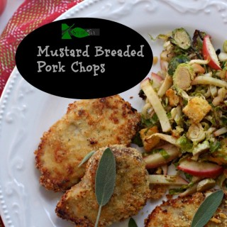 Mustard Breaded Oven Fried Pork Chops and a Thank You to Retro Rose