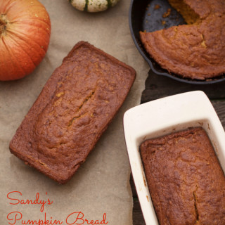 Sandy's Pumpkin Bread and Remembering Moms at the Holidays