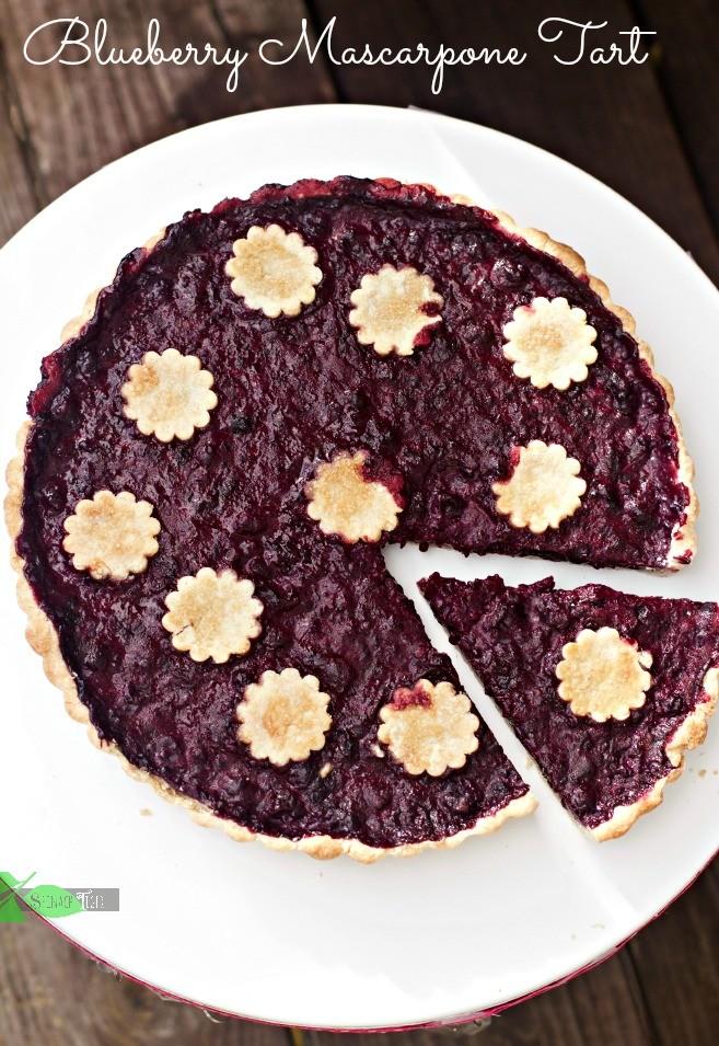 Gluten Free Blueberry Mascarpone Tart Gluten Free PIe Crust by Spinach Tiger