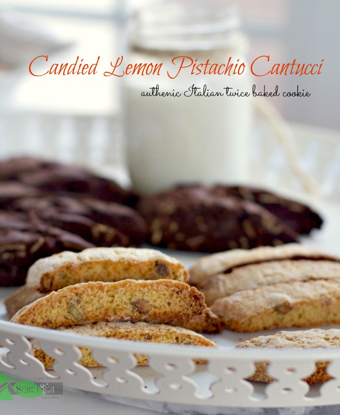 Italian Christmas Cookies: Candied Lemon Pistacho Canutucci from Spinach Tiger