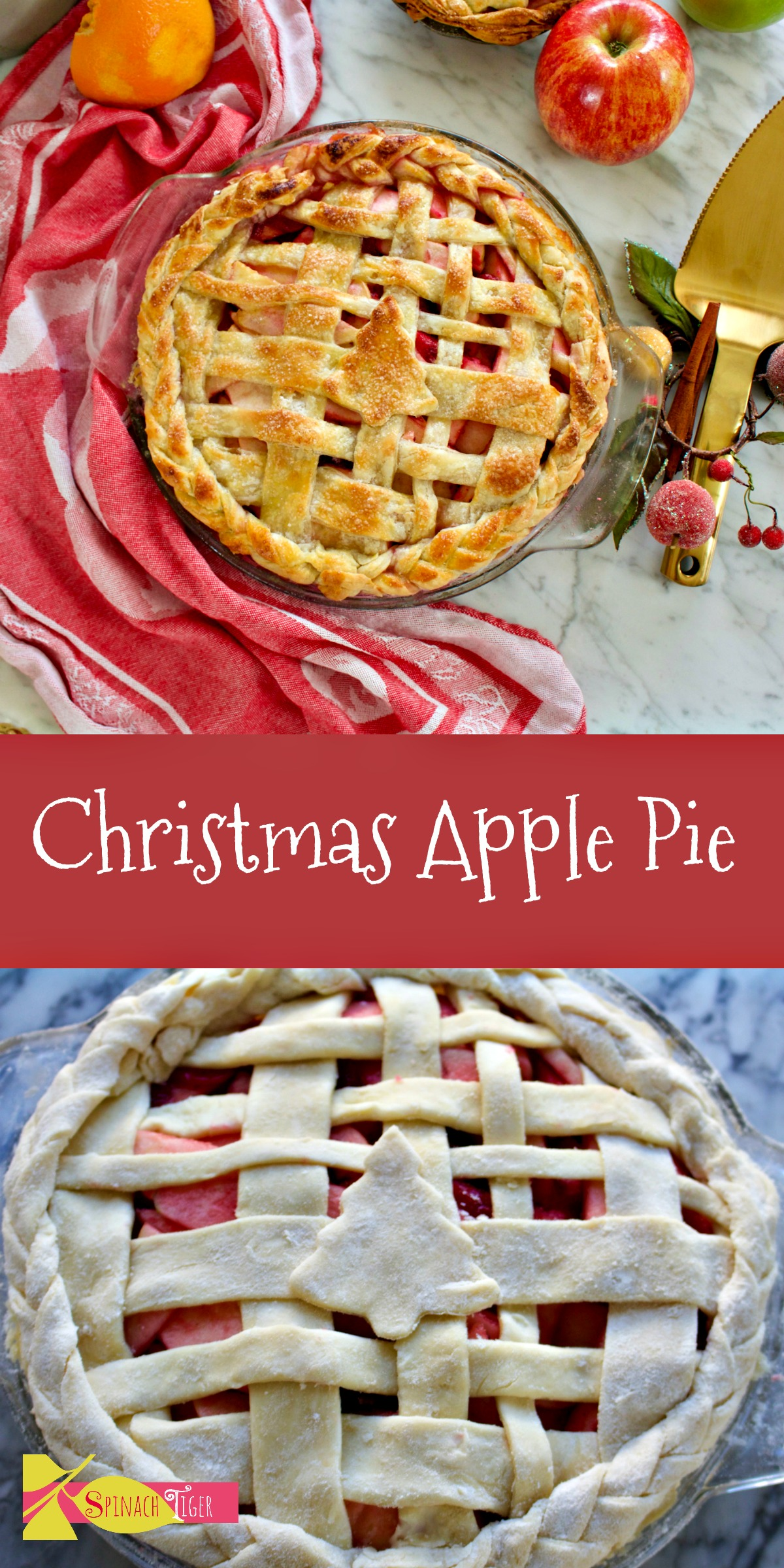 Christmas Apple Pie 2 from Spinach Tiger