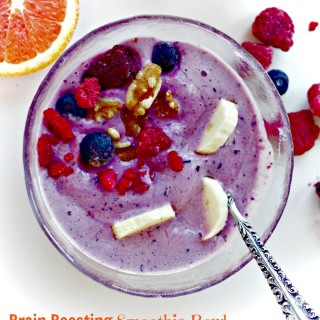 Blueberry Banana Protein Smoothie Bowl