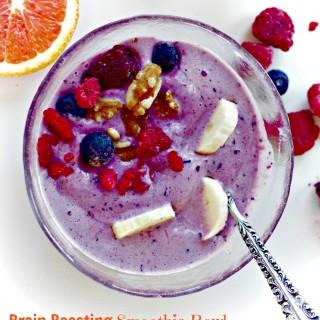 Blueberry Banana Protein Smoothie Bowl