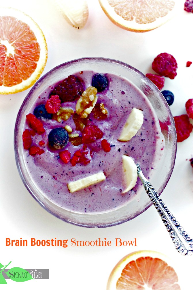 Brain Boosting Smoothie Bowl from Spinach T