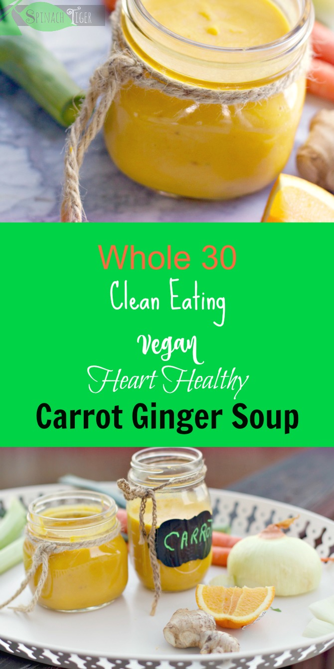 Carrot Ginger Healthy Soup Recipe from Spinach Tiger