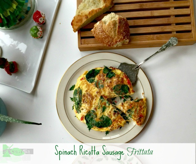 Baked Frittata with Spaghetti and Broccoli - Spinach Tiger