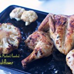 Mustard Roasted Spatchcock Chicken with Roasted Whole Cauliflower