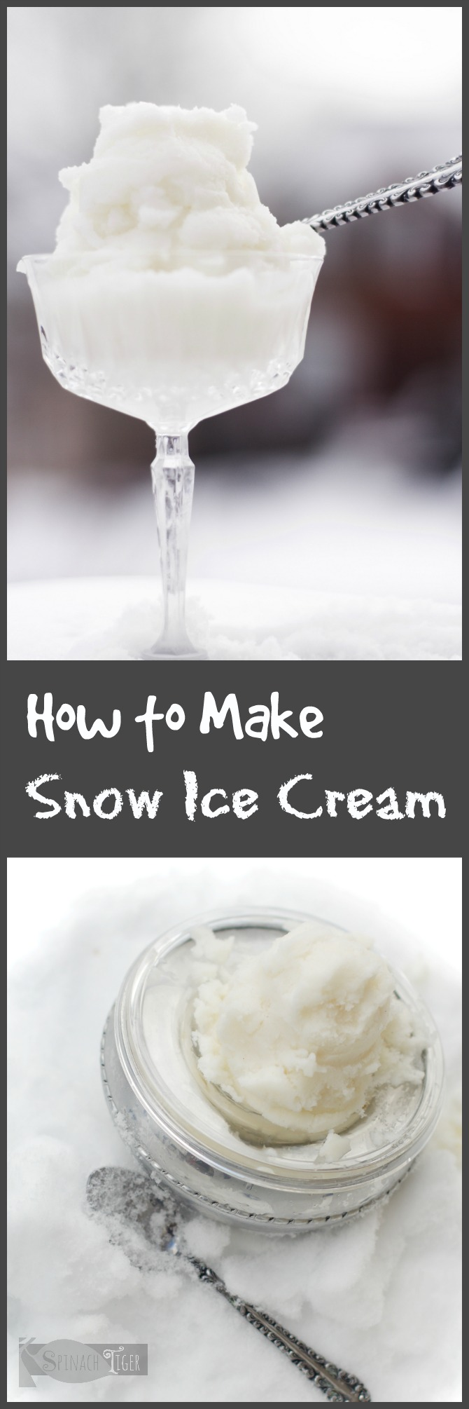 Low Calorie Snow Ice Cream from Spinach Tiger