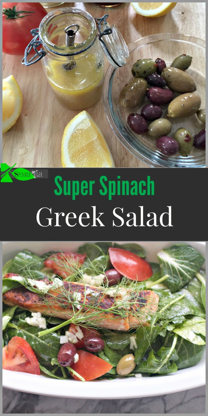 Super Spinach Greek Salad