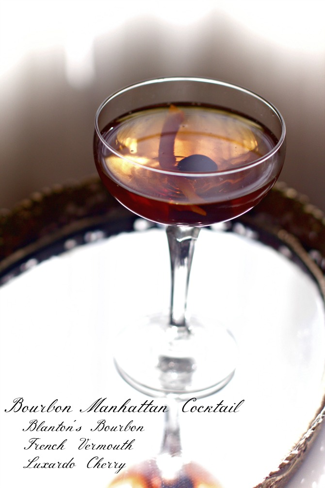 Bourbon Manhattan Cocktail