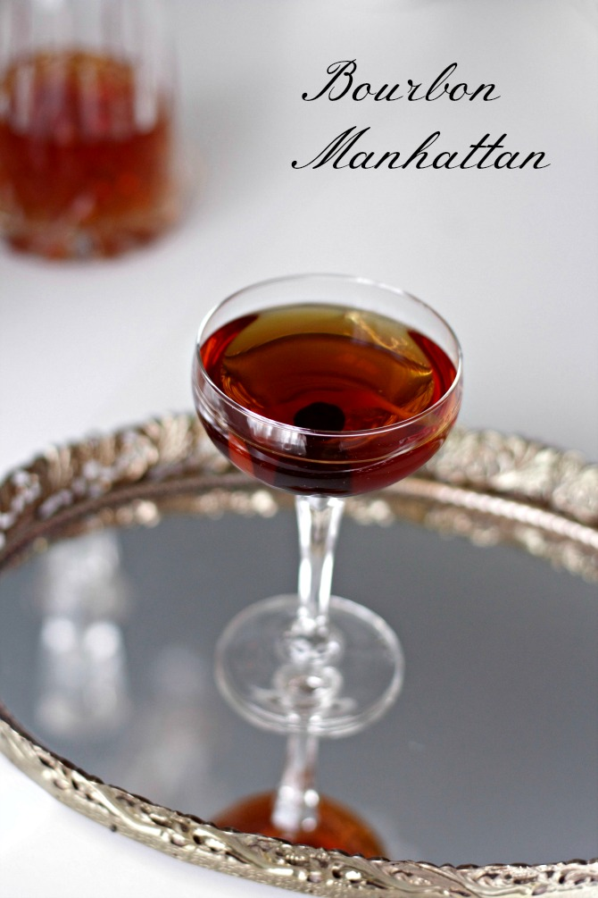 Bourbon Manhattan from Spinach Tiger
