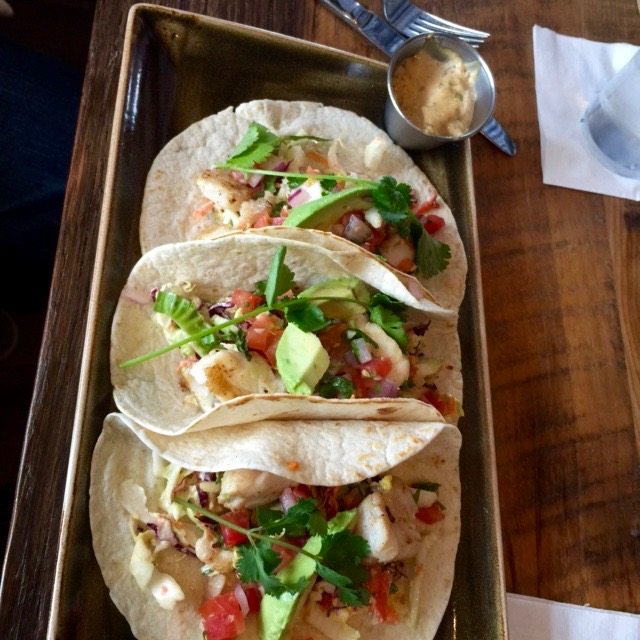 Fish Tacos at Honeysuckle from SpinachTiger