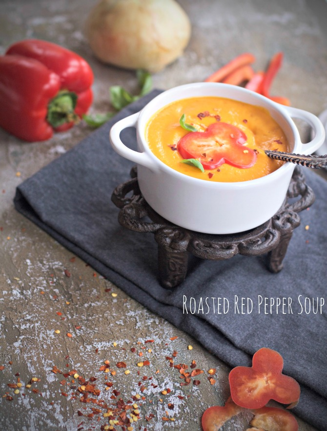 Roasted Red Pepper Soup Recipe from Spinach TIger