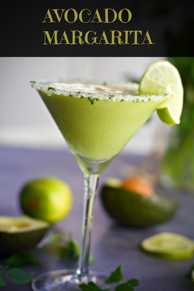 Avocado Margarita from spinach tiger