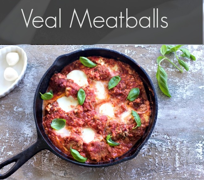 Veal Meatballs with Ricotta Cheese from Spinach Tiger