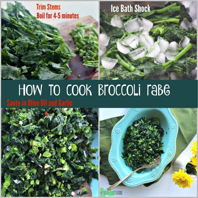 How to Cook Broccoli Rabe Recipe from Spinach Tiger