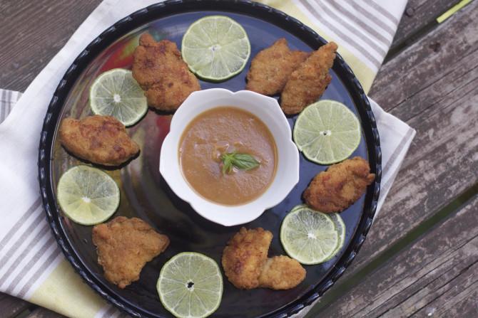 Chicken Bites Peanut Sauce 1